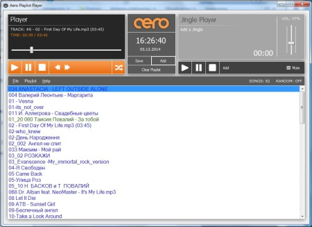 Aero Playlist Player